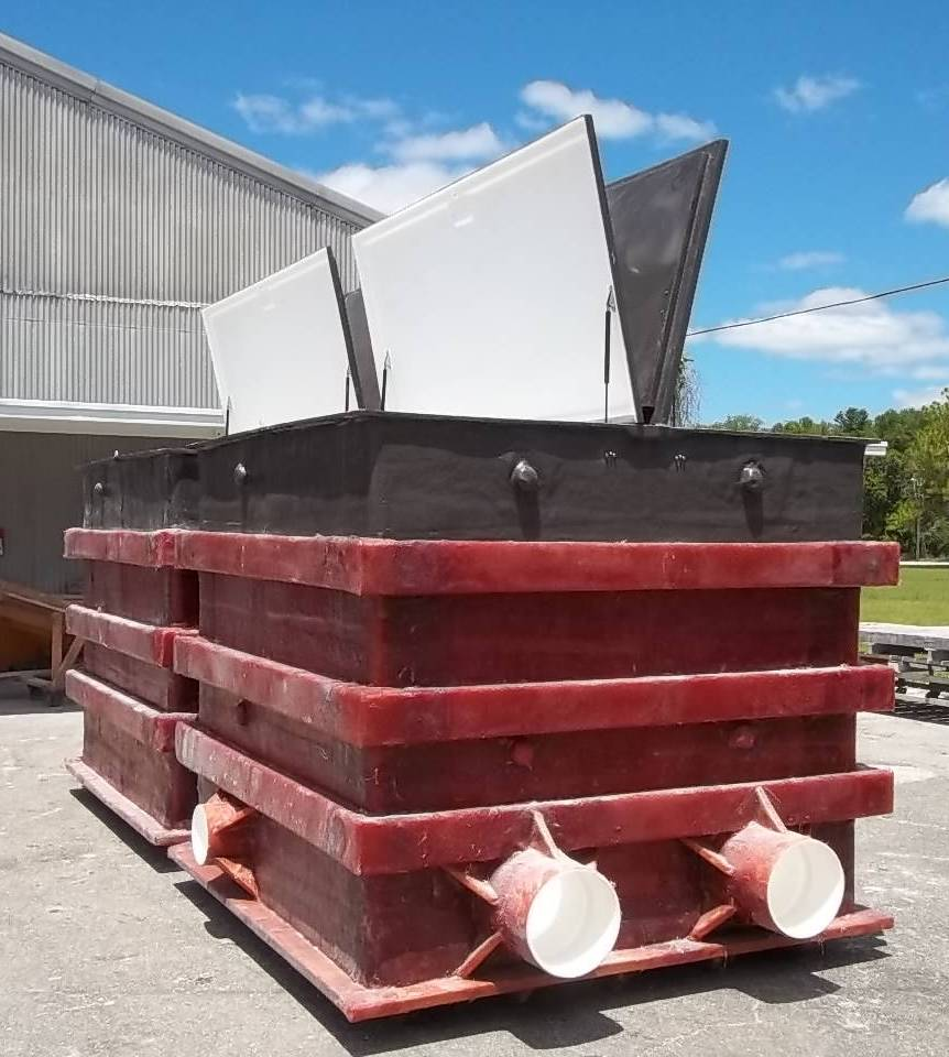 Dual Fiberglass Collector Tank With Landscape Cover