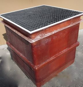 Backwash Sump with Grate
