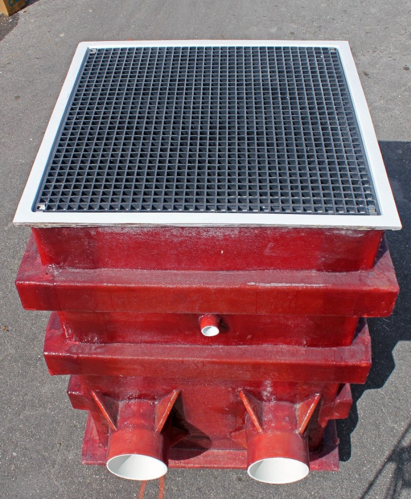 ASA MFG Fiberglass Collector Tank with grate