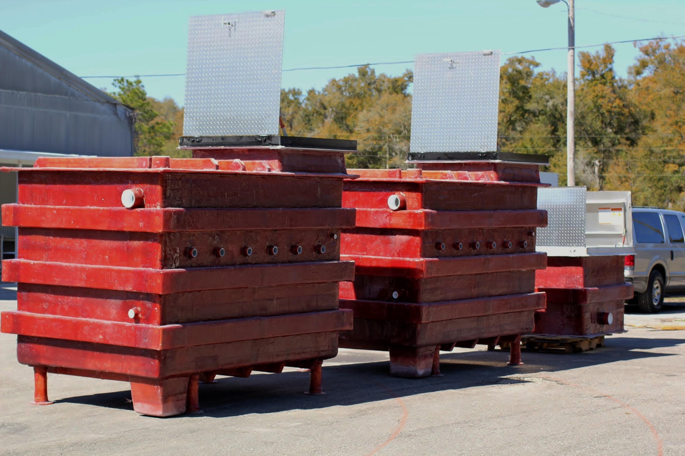 Fiberglass Equipment Vaults with Secure Hatch
