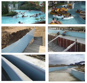 Fiberglass Lazy River Wall