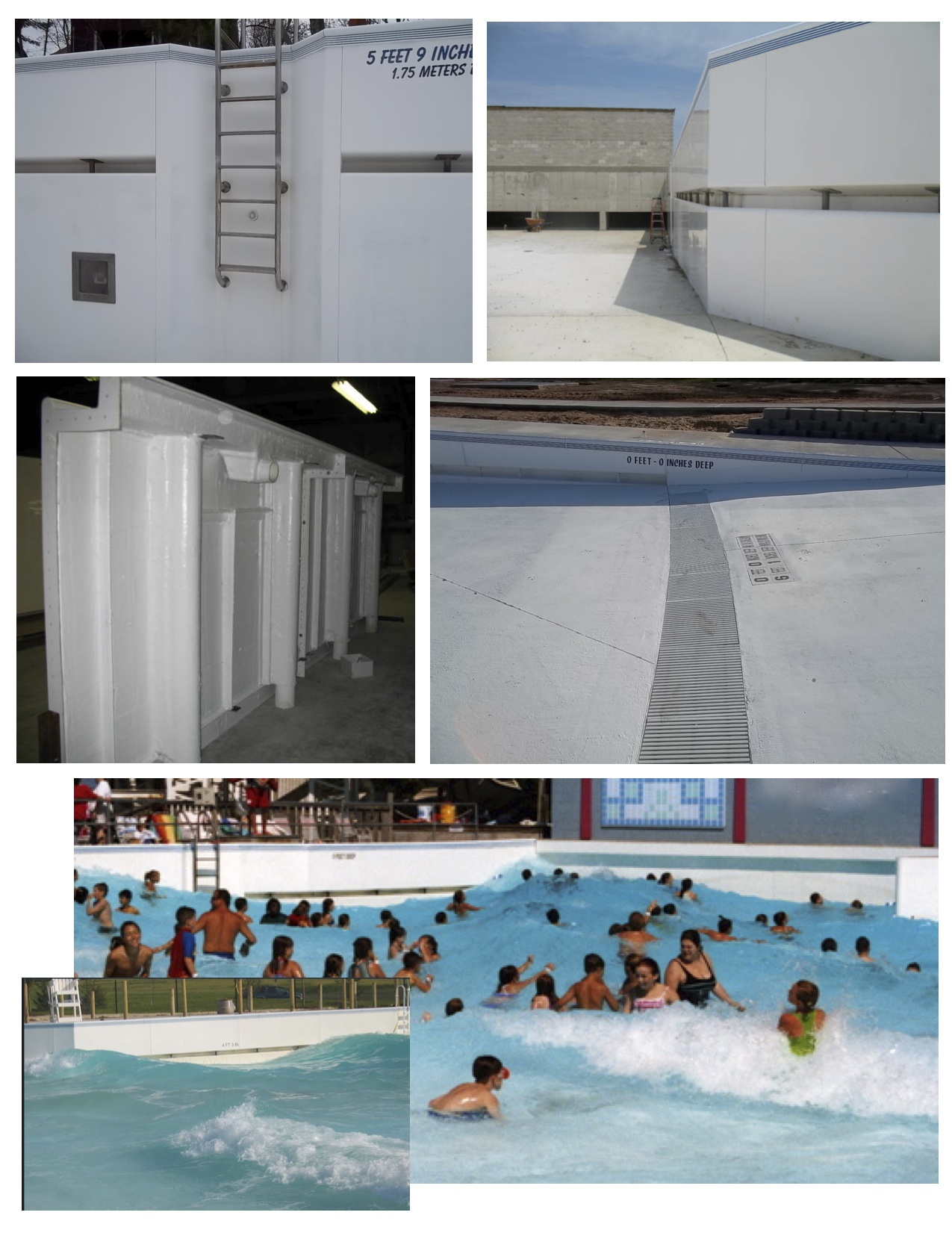 Fiberglass Wave Pool Wall Systems